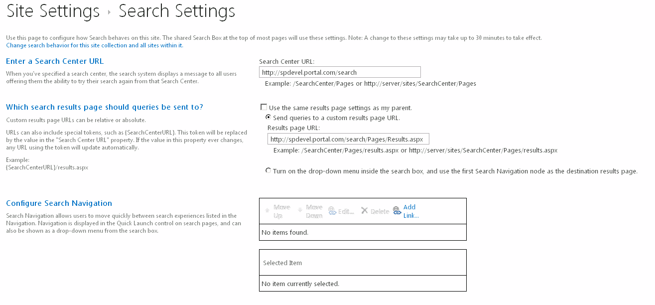 update search settings using powershell in sharepoint 2013