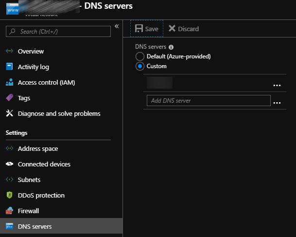 DNS Server in Azure VNets – Albandrod's Memory