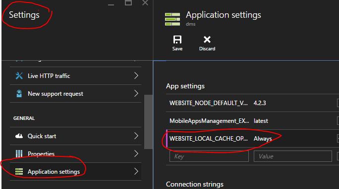 Azure-AppService-Local Cache Store